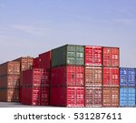 container industrial port with... | Shutterstock . vector #531287611