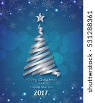 silver ribbon make christmas... | Shutterstock .eps vector #531288361