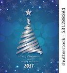 silver ribbon make christmas... | Shutterstock .eps vector #531288361