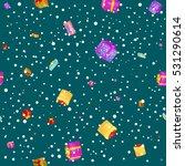 seamless pattern gift box for... | Shutterstock .eps vector #531290614