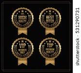 vector vintage badges... | Shutterstock .eps vector #531290731