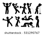 drunk people in different... | Shutterstock .eps vector #531290767