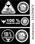 halal  beef  premium beef vector | Shutterstock .eps vector #531290875