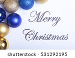 text merry christmas on paper... | Shutterstock . vector #531292195