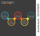 timeline infographics template... | Shutterstock . vector #531293839