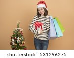 beautiful christmas girl in...   Shutterstock . vector #531296275