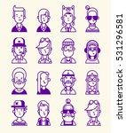 set of avatars.  | Shutterstock .eps vector #531296581