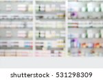blurry medicine cabinet and... | Shutterstock . vector #531298309