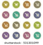 shopping bascket icon set for... | Shutterstock .eps vector #531301099