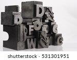 metal letterpress types.... | Shutterstock . vector #531301951