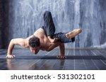 Yoga. Young Man Doing An Asana...