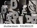 metal letterpress types.... | Shutterstock . vector #531302125
