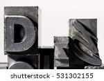 metal letterpress types.... | Shutterstock . vector #531302155
