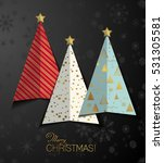 creative stylized christmas... | Shutterstock .eps vector #531305581