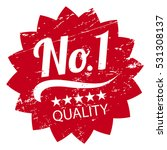 stamp no.1 quality five stars.... | Shutterstock .eps vector #531308137