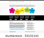 vector web site template | Shutterstock .eps vector #53131141