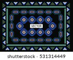 embroidery ethnic flowers neck... | Shutterstock .eps vector #531314449