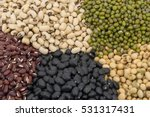 five beans close up background  ... | Shutterstock . vector #531317431