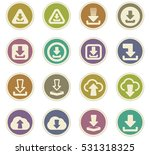 download icon set for web sites ... | Shutterstock .eps vector #531318325