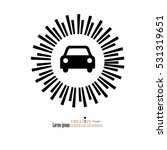 car icon with sun ray... | Shutterstock .eps vector #531319651