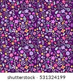 cute floral pattern in the... | Shutterstock .eps vector #531324199