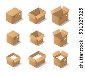 vector isometric cardboard box...