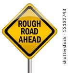 rough road ahead sign | Shutterstock . vector #53132743