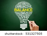 balance bulb word cloud collage ... | Shutterstock . vector #531327505