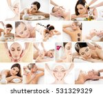 spa collage. different types of ... | Shutterstock . vector #531329329