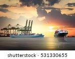 logistics and transportation of ... | Shutterstock . vector #531330655