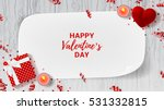 valentine's day greeting web... | Shutterstock .eps vector #531332815
