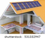 alternative heated house with... | Shutterstock . vector #531332947