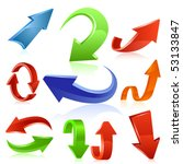arrow icon set 3. vector | Shutterstock .eps vector #53133847