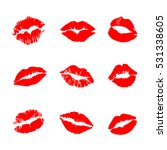print of lips kiss vector...