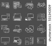 vector computer hardware icon... | Shutterstock .eps vector #531343009