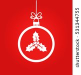 christmas ball decoration with... | Shutterstock .eps vector #531344755