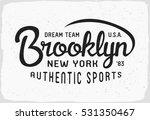 5fe51e95 Brooklyn Sport Print Black White T Stock Vector (Royalty Free) 531350467 -  Shutterstock