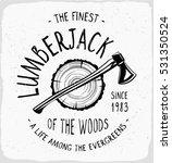 lumberjack print in black and... | Shutterstock .eps vector #531350524