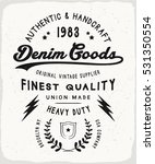 denim goods print in black and...   Shutterstock .eps vector #531350554