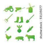 farm icon set   Shutterstock .eps vector #53135077