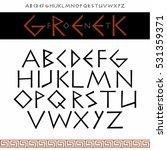vector english alphabet in the... | Shutterstock .eps vector #531359371