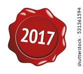 2017 red stamp | Shutterstock .eps vector #531361594