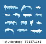 ice or snow blue caps frames.... | Shutterstock . vector #531371161