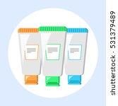 cosmetics blank bath tube... | Shutterstock .eps vector #531379489
