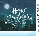 square merry christmas... | Shutterstock .eps vector #531382111