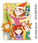 new year holiday. the children... | Shutterstock . vector #531389944