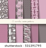 seamless vector grey and pink...   Shutterstock .eps vector #531391795