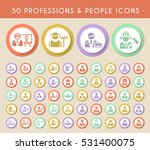 set of 50 professions and... | Shutterstock .eps vector #531400075