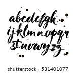 vector acrylic brush style hand ... | Shutterstock .eps vector #531401077