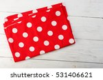 tablecloth at polka dots. red... | Shutterstock . vector #531406621